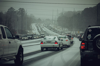 Weather Packs Double Punch in East and South, Georgia Governor Asks Truckers to Park It in Atlanta